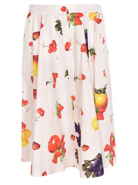 Msgm Fruit Print Midi Skirt
