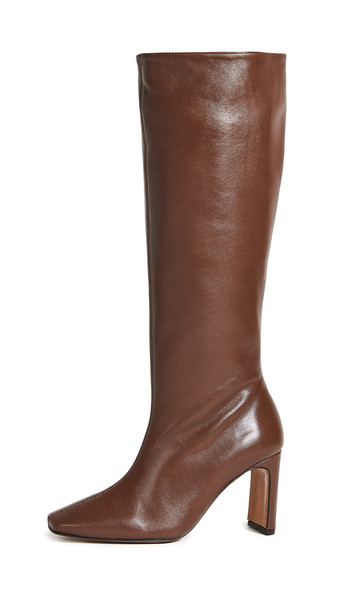 Souliers Martinez Enero Leather 70mm Boots in chocolate