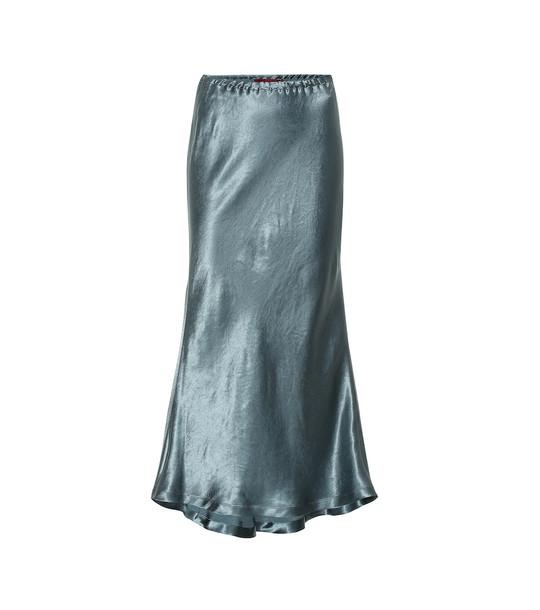 Sies Marjan Xael satin midi skirt in green