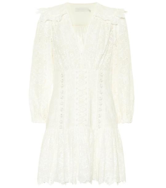 Zimmermann Honour Corset lace minidress in white