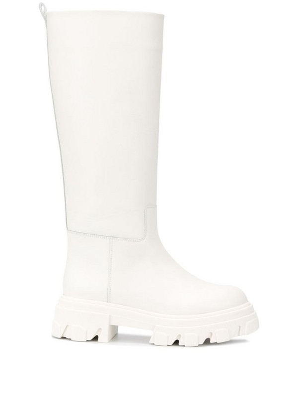 Gia Couture knee-length boots in white