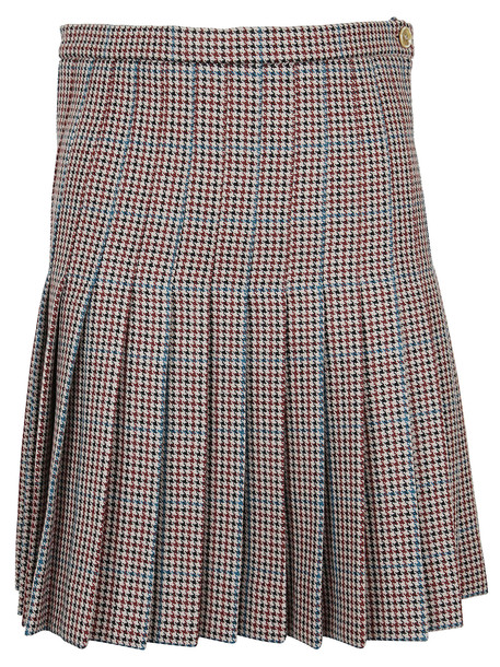 Off-White Check Pleated Mini Skirt All Over No Col