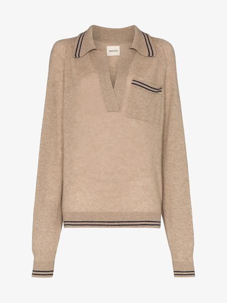 Khaite Ellen cashmere collared sweater