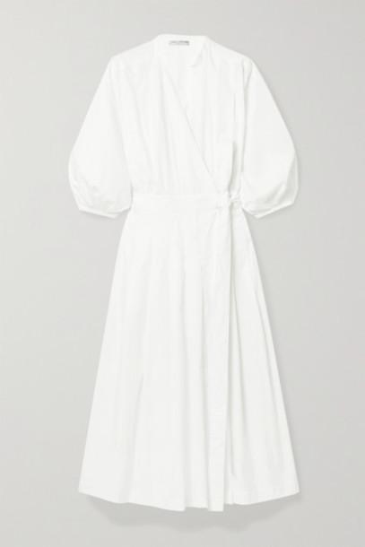 Three Graces London - Delmare Cotton-poplin Wrap Dress - White
