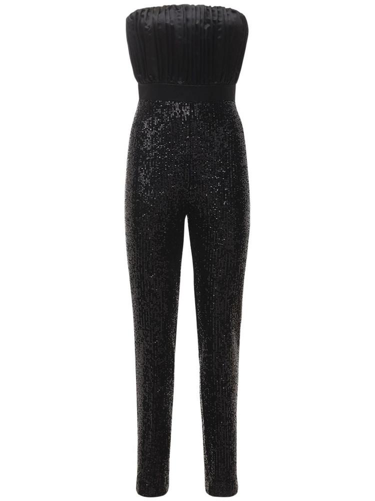 GIUSEPPE DI MORABITO Sequins Jumpsuit W/ Bustier in black