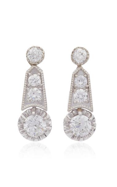 Mindi Mond Deco Revival Milgrain Earrings in white