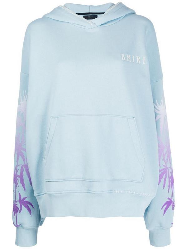 AMIRI oversized hoodie in blue