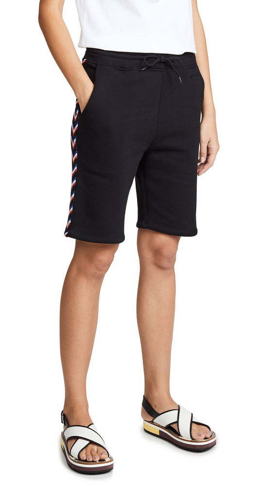 Etre Cecile Rib Track Shorts in black