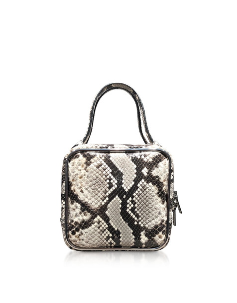 Alexander Wang Roccia Snake Print Halo Top Handle Satchel Bag