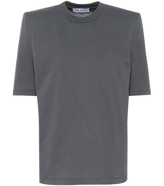 The Attico Bella cotton jersey T-shirt in grey
