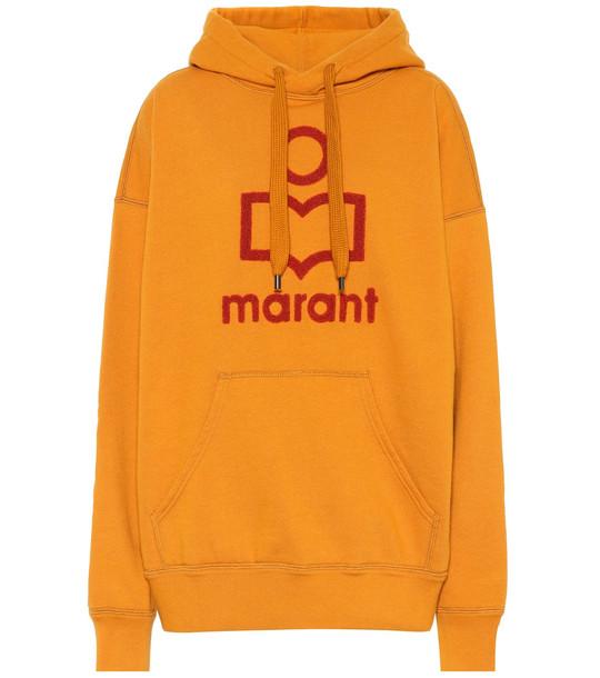 Isabel Marant, Étoile Mansel logo cotton-blend hoodie in yellow