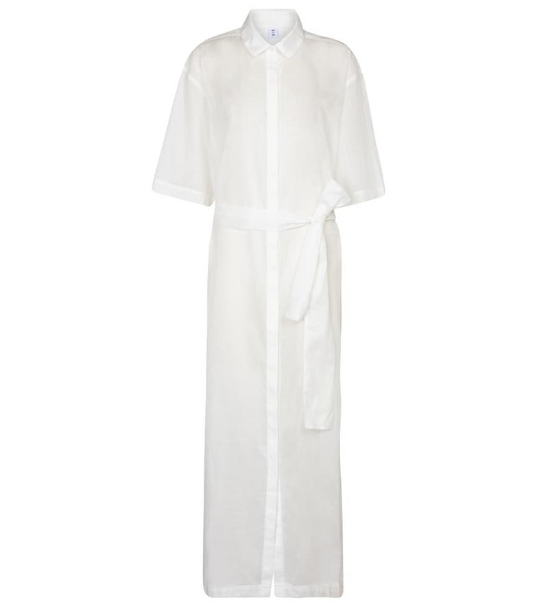 SIR Alina cotton and linen maxi dress in white