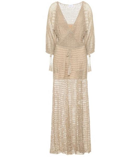 Anna Kosturova Stevie crochet maxi dress in beige