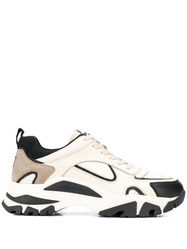 AMI Paris chunky low-top sneakers in neutrals