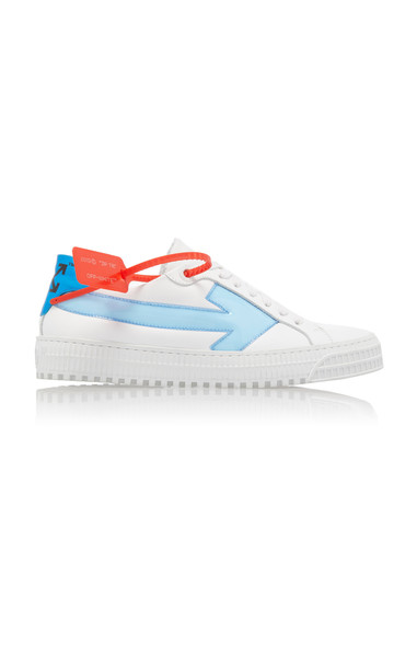 Off-White c/o Virgil Abloh Arrow PVC-Trimmed Leather Sneakers Size: 36