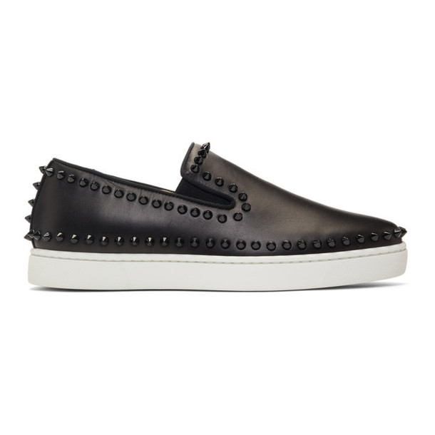 Christian Louboutin Black & White Pik Boat Sneakers