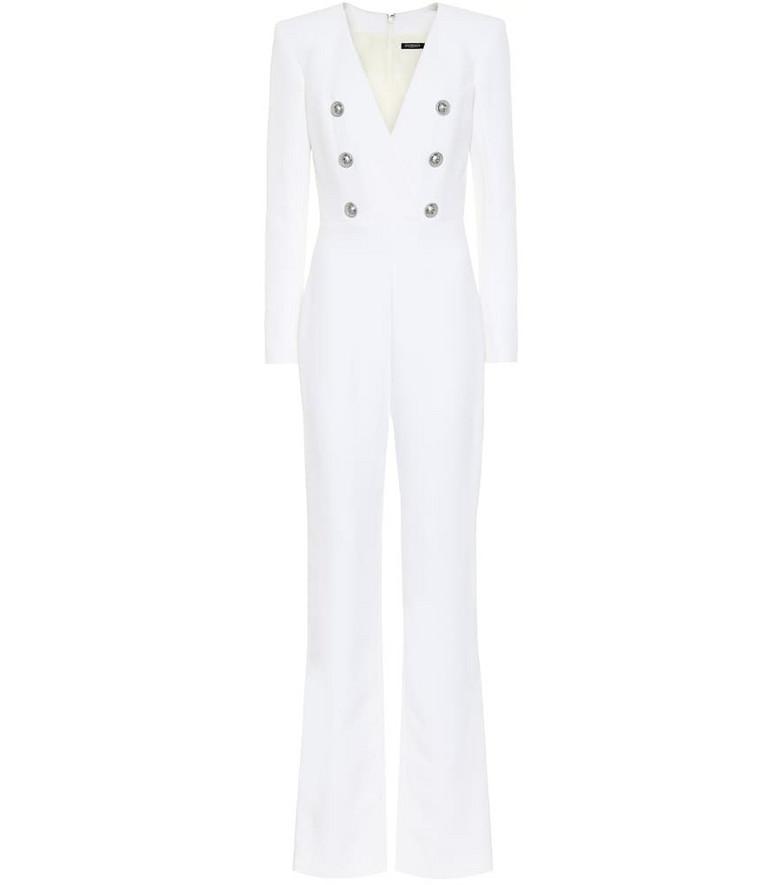 Balmain Crêpe jumpsuit in white