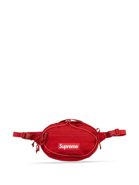 Supreme logo belt bag in red