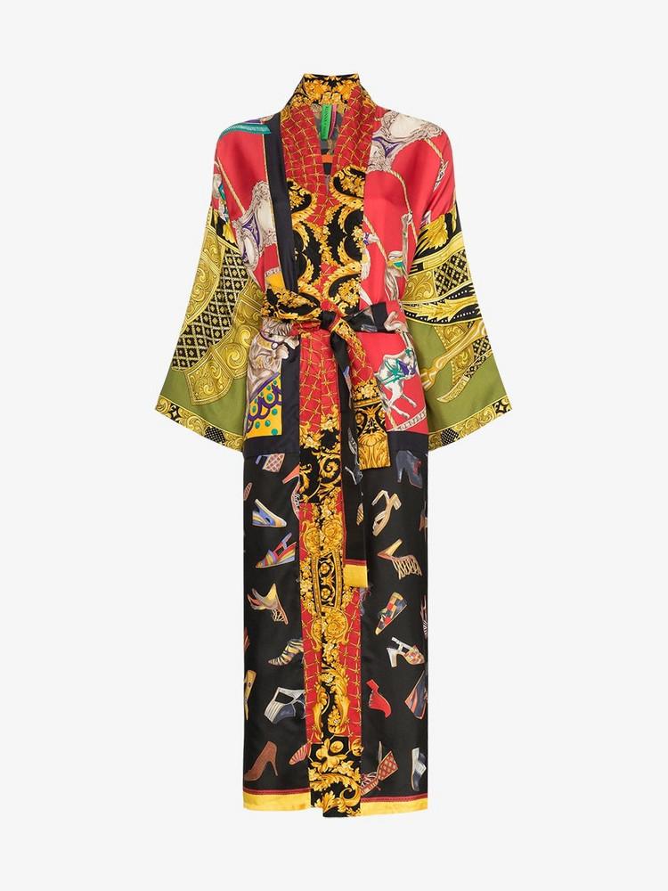 Rianna + Nina Rianna + Nina shoe print silk kimono