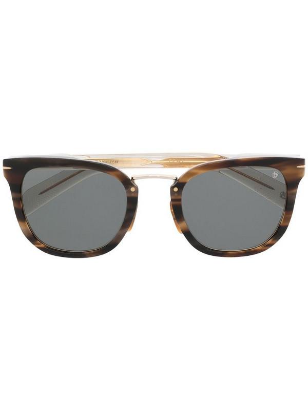 Eyewear by David Beckham tortoiseshell cat-eye sunglasses in brown