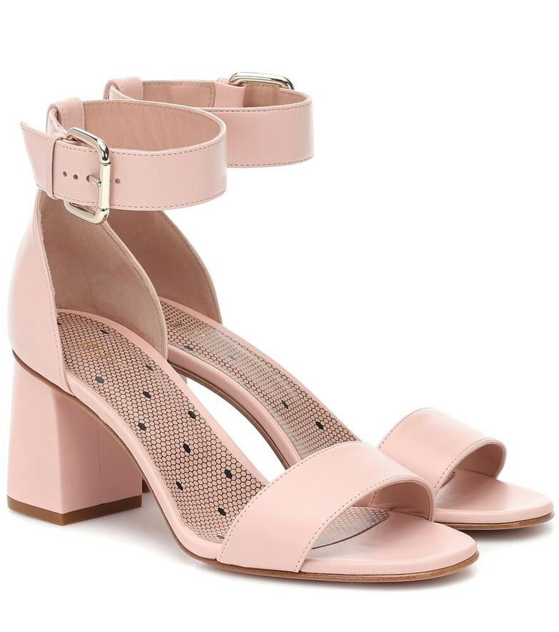 RED (V) RED (V) leather block heel sandals in pink