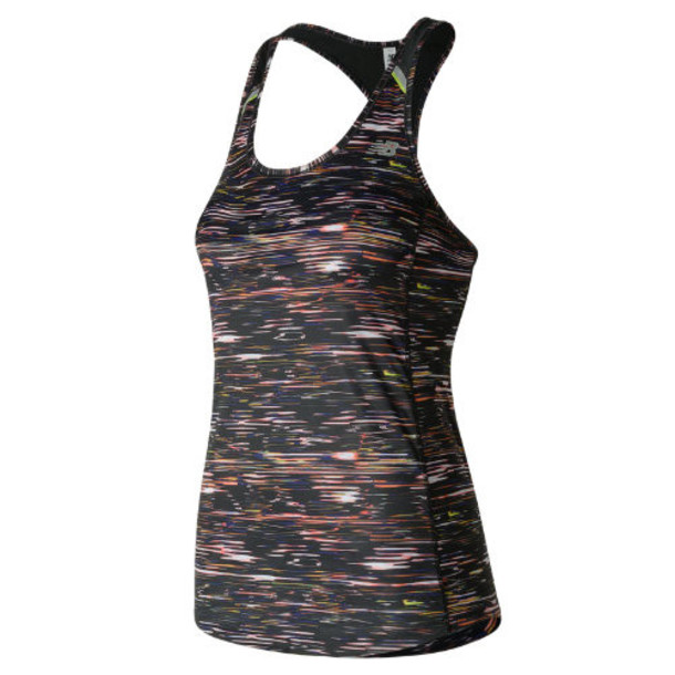 New Balance 71223 Women's NB Ice Printed Tank - Black/Pink/White (WT71223MIS)
