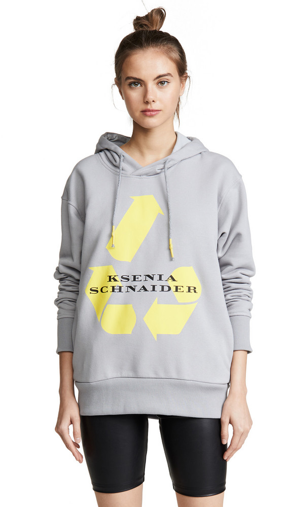 Ksenia Schnaider Recycle Hoodie in grey