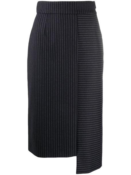 Lorena Antoniazzi pinstripe print skirt in blue