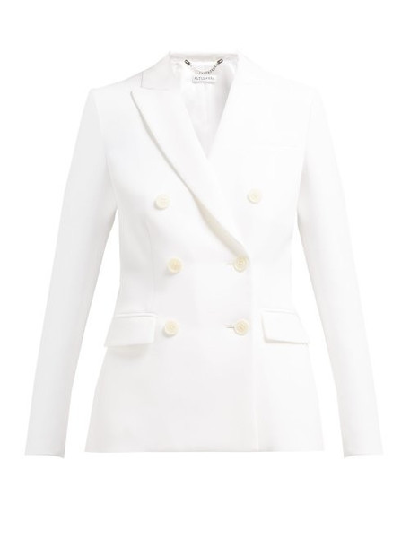 Altuzarra - Indiana Double Breasted Crepe Blazer - Womens - White