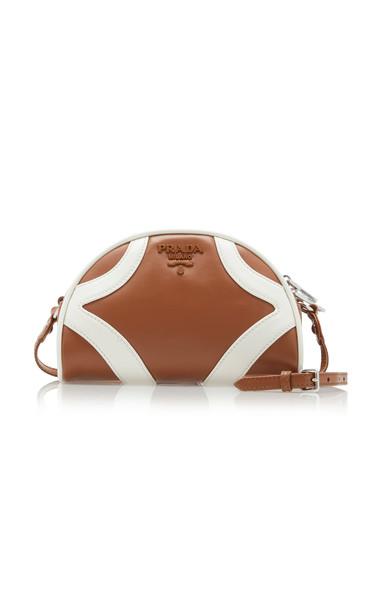 Prada Bi-Color Leather Crossbody Bag in brown