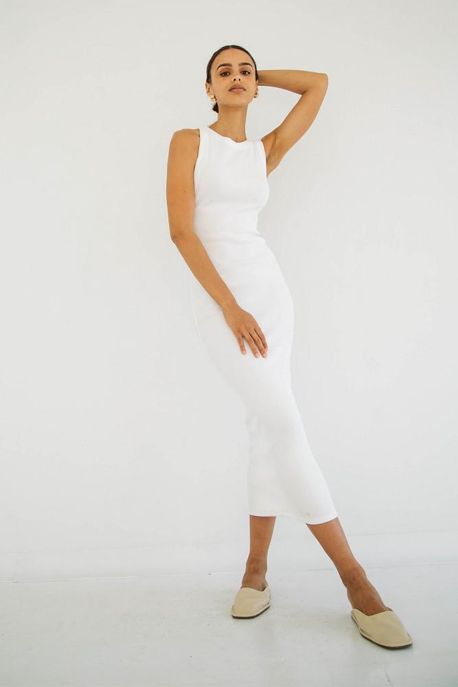The Line by K MARIBEL DRESS OFF-WHITE