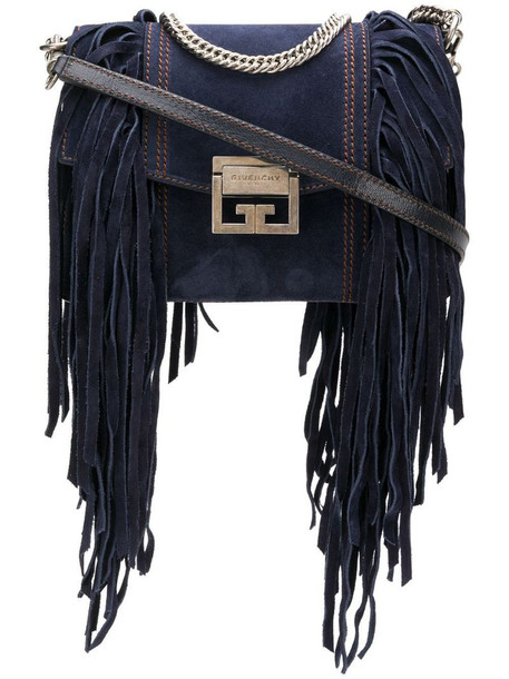 Givenchy fringes small GV3 bag in blue