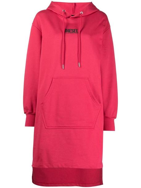 Diesel D-Ilse-Smallogo hoodie dress in pink
