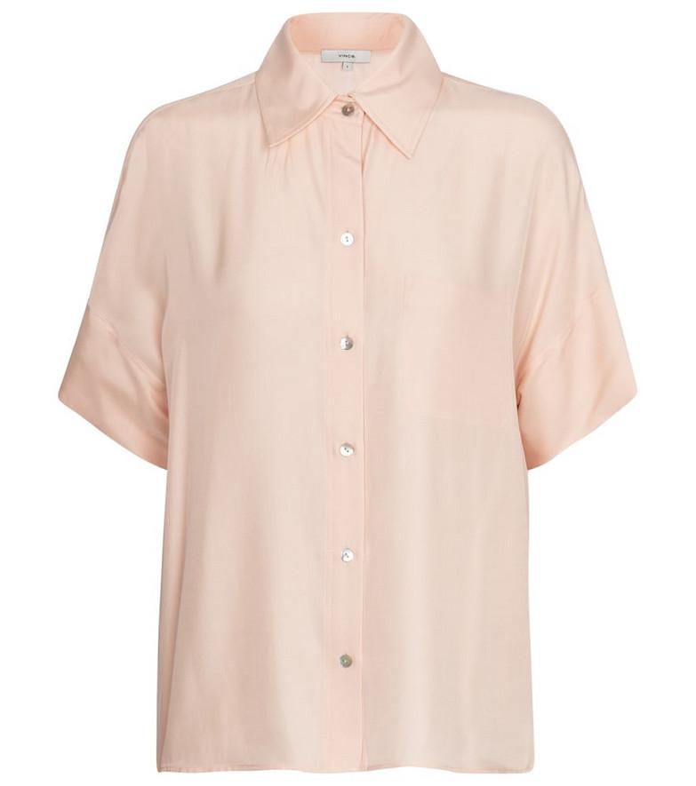 Vince Silk-blend shirt in pink