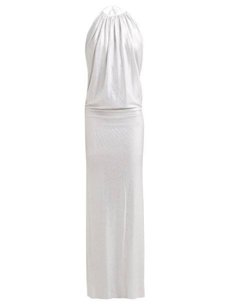 Alexandre Vauthier - Halterneck Crystal Embellished Dress - Womens - Silver