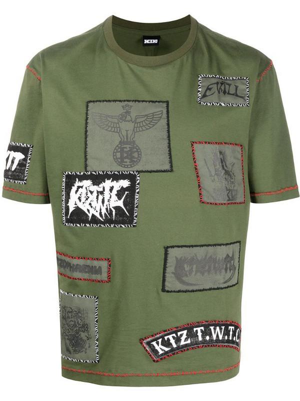 KTZ multi-patch unisex T-shirt in green