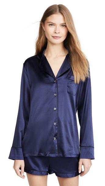 Journelle Sophia Pajama Set in black / navy