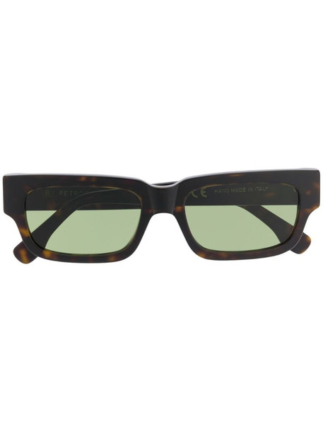 Retrosuperfuture rectangular frame sunglasses in brown