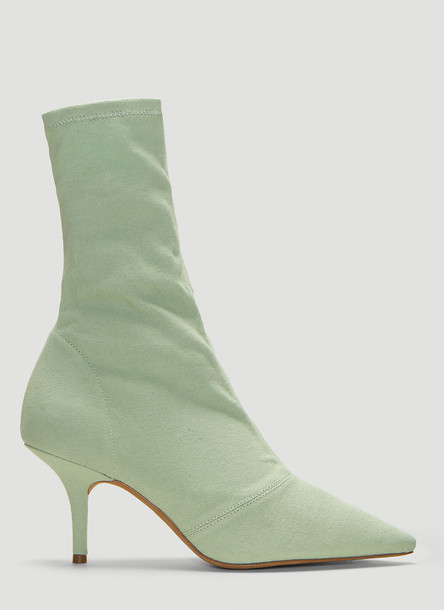 Yeezy Stretch Canvas Ankle Boots in Green size EU - 40
