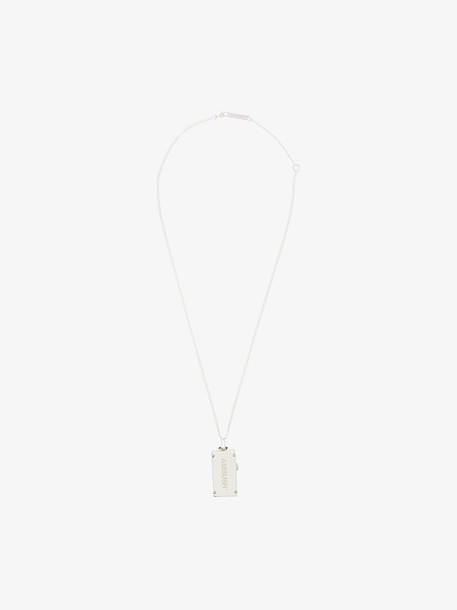 Ambush silver tone USB pendant necklace