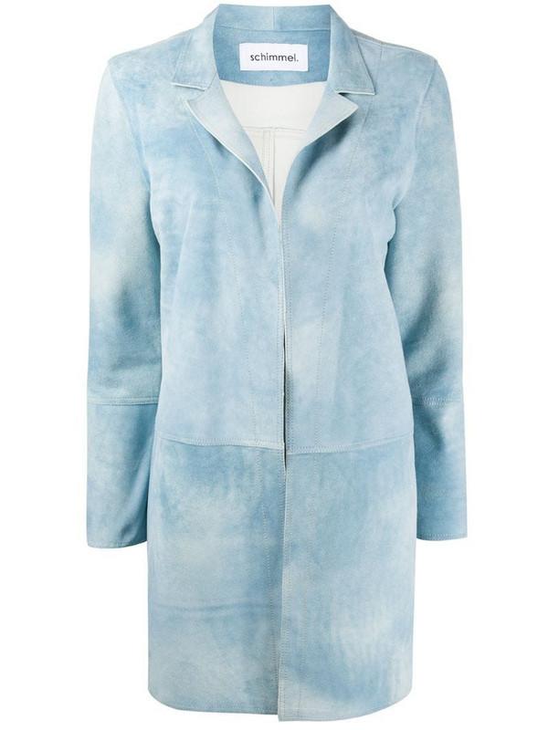Sylvie Schimmel Sireneante notched-lapel coat in blue