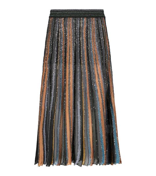 Missoni Pleated midi skirt