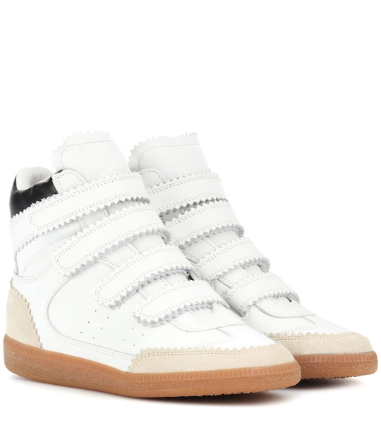 Isabel Marant Bilsy leather sneakers in white