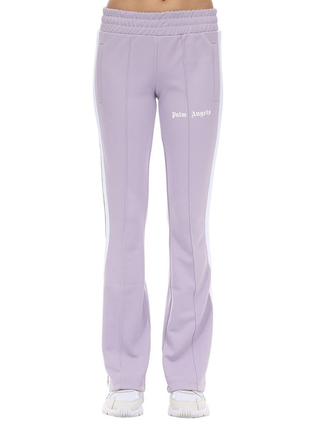 PALM ANGELS Logo Acetate Pants in lilac