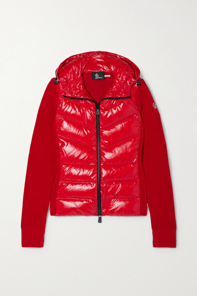 Moncler Grenoble - Fleece-trimmed Quilted Shell Down Jacket - Red
