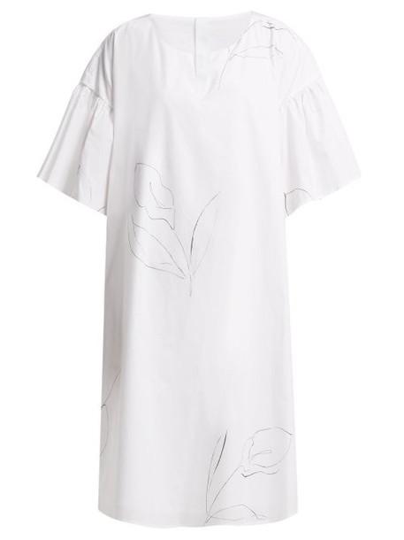 Merlette - Cambridge Print Cotton Poplin Dress - Womens - White Print