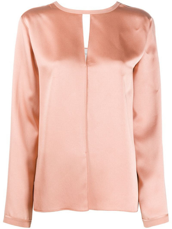 Forte Forte cut-out neckline blouse in pink