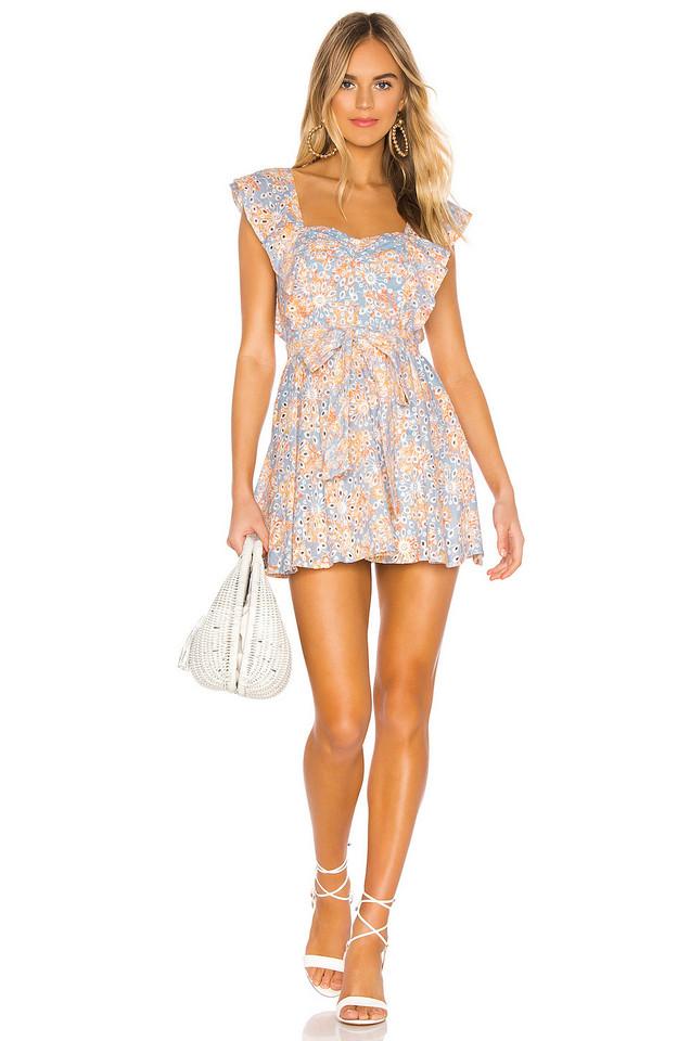 Lovers + Friends Tulip Mini Dress in blue