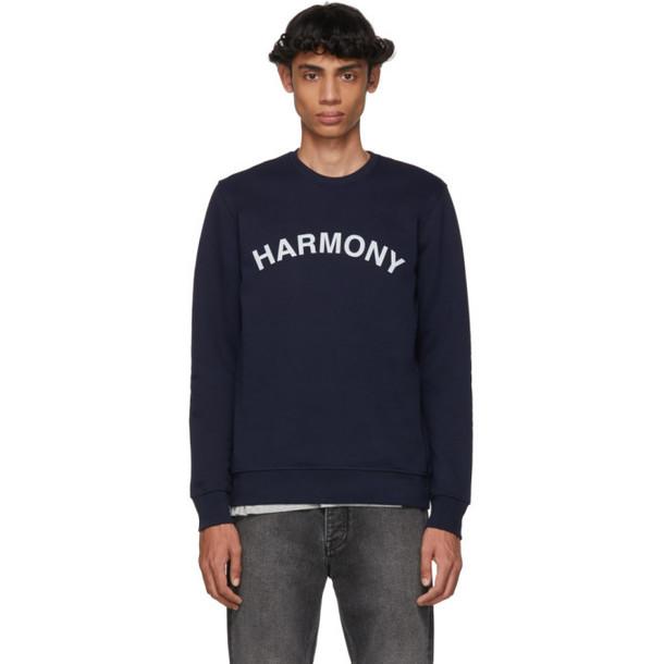 Harmony Navy Sael Logo Sweatshirt