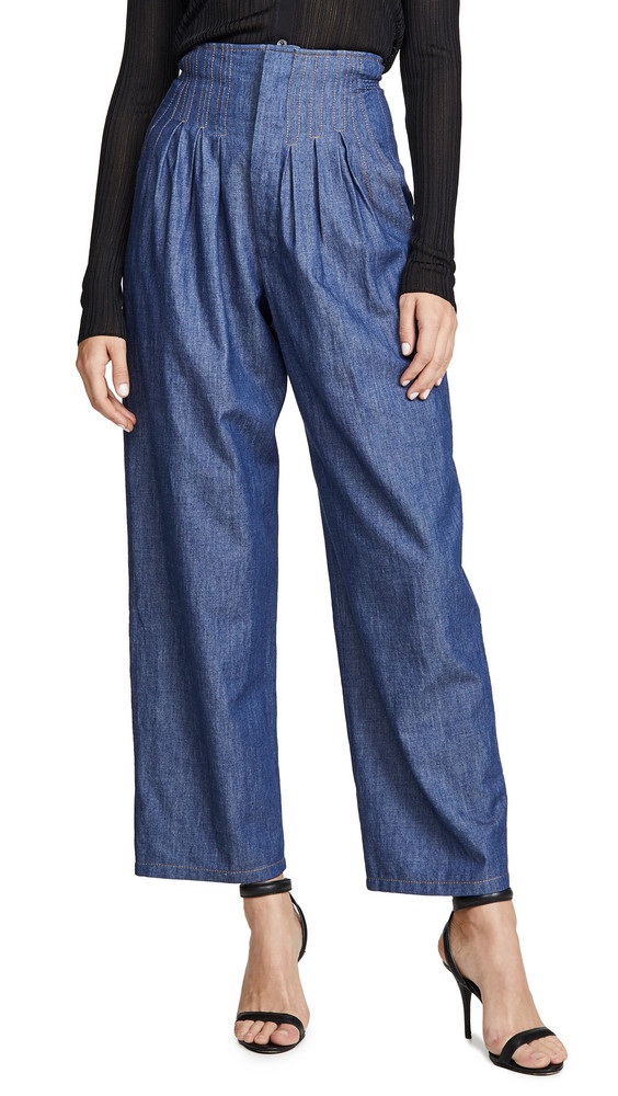 Colovos Super High Waisted Pants in blue